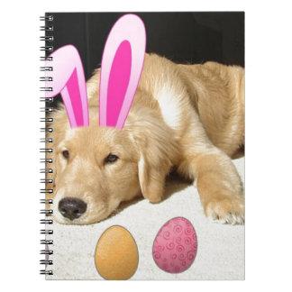 Easter Golden Retriever Puppy Notebook