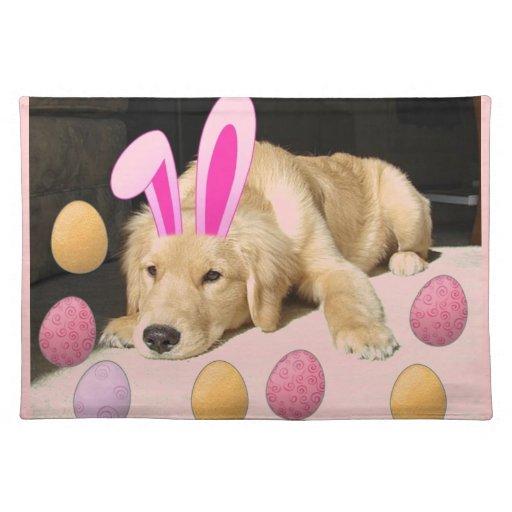 Easter Golden Retriever Puppy Placemat