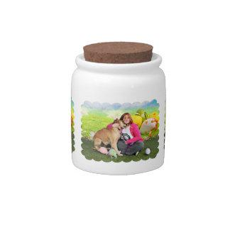 Easter - Golden Retriever - Sandy Candy Jars