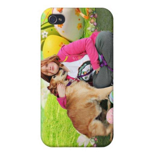 Easter - Golden Retriever - Sandy Case For iPhone 4