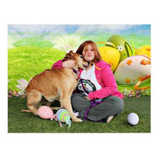 Easter - Golden Retriever - Sandy Postcard