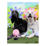 Easter - GoldenDoodles - Sadie and Izzie Postcards