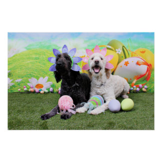Easter - GoldenDoodles - Sadie and Izzie Posters