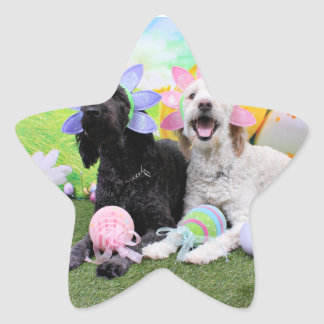 Easter - GoldenDoodles - Sadie and Izzie Stickers