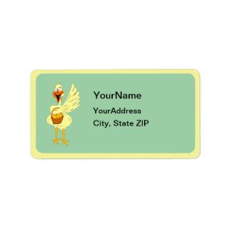 Easter Goose Address Label