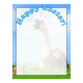 Easter Goose w/Colored Eggs & Basket Flyer Design