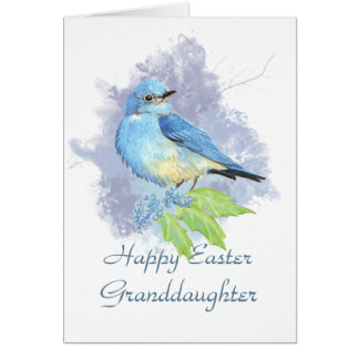 Easter Granddaughter Eastern Mountain Bluebird Greeting Card