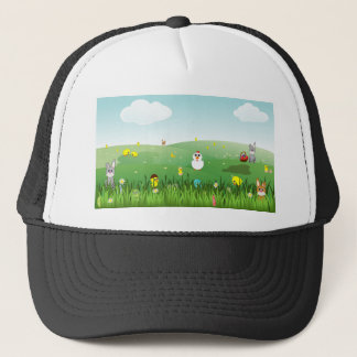 easter grass trucker hat
