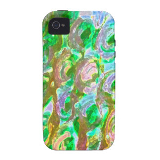 Easter Green-Brown Floral Design iPhone 4/4S Case