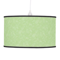 Easter Green Retro Paisley Ceiling Lamp