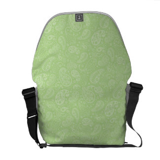 Easter Green Retro Paisley Courier Bag
