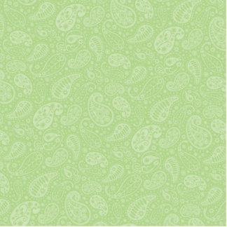 Easter Green Retro Paisley Cutout