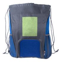 Easter Green Retro Paisley Drawstring Backpack