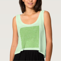 Easter Green Retro Paisley Tank Top