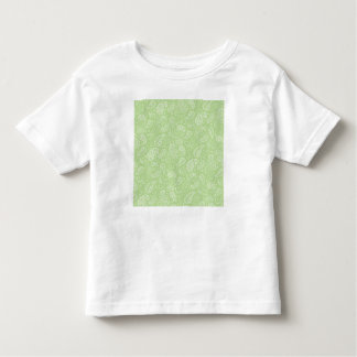 Easter Green Retro Paisley Toddler T-shirt