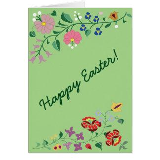 Easter greetig card- folk motifs card