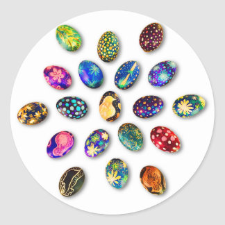 Easter Greeting Card Classic Round Sticker