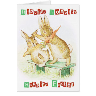 Easter Greeting, hippity hoppity happity Easter, Greeting Card