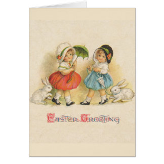 Easter Greeting Vintage Greeting Card