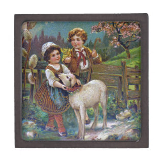 Easter Greetings 1908 Jewelry Box