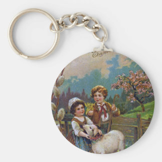 Easter Greetings 1908 Keychain