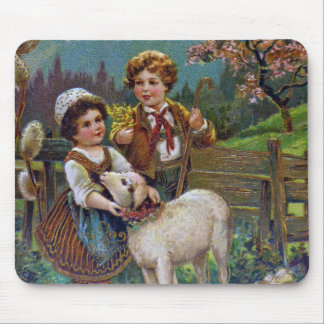 Easter Greetings 1908 Mouse Pad
