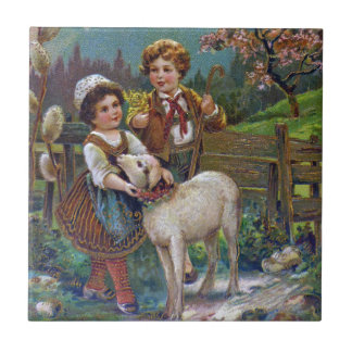 Easter Greetings 1908 Tile