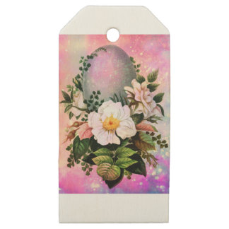 EASTER GREETINGS 5 WOODEN GIFT TAGS