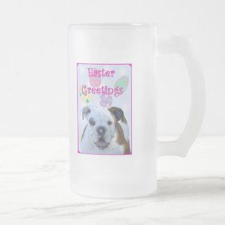 Easter greetings bulldog mug