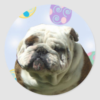 Easter Greetings Bulldog stickers