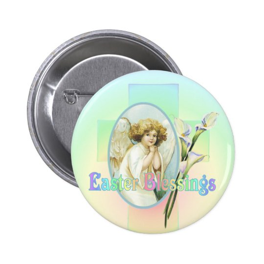 EASTER GREETINGS by SHARON SHARPE Pinback Button
