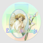 EASTER GREETINGS by SHARON SHARPE Round Stickers