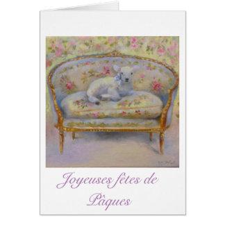 easter greetings cards - Agneau canapé Aubusson Tarjeta De Felicitación