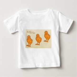 Easter Greetings Chicks Beige Baby T-Shirt