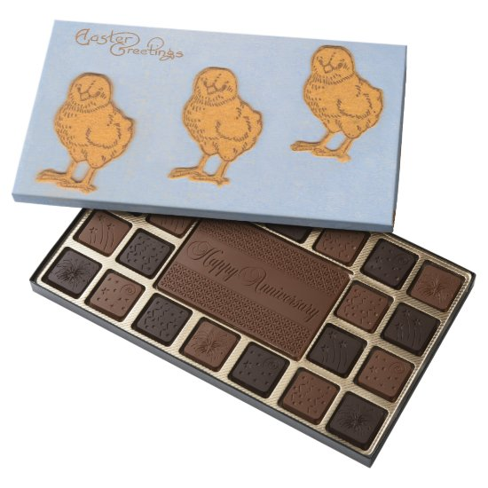 Easter Greetings Chicks Blue Assorted Chocolates