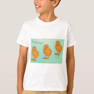 Easter Greetings Chicks Green T-Shirt