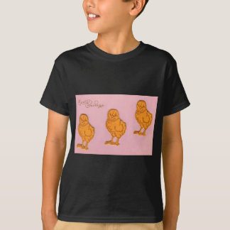 Easter Greetings Chicks Pink T-Shirt