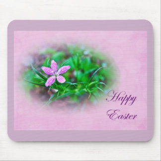 Easter Greetings Deptford Pink Wildflower Mouse Pad
