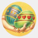 Easter Greetings Eggs Sticker