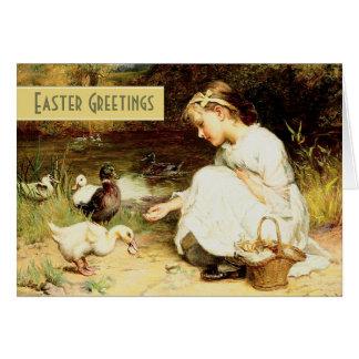 Easter Greetings.Fine Art Customizable Easter Card