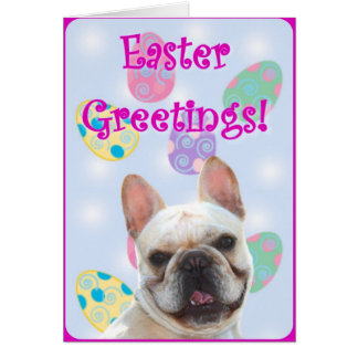 Easter Greetings French Bulldog Greeting Card