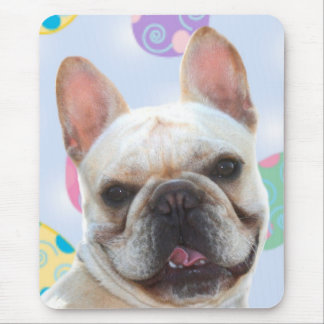 Easter Greetings French Bulldog Mouse Pad