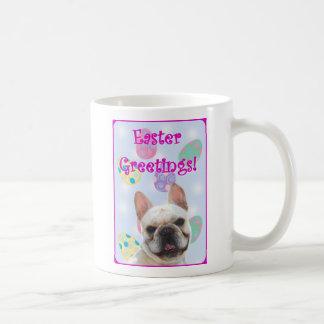 Easter Greetings French Bulldog Classic White Coffee Mug