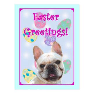 Easter Greetings French Bulldog Postcard