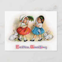 Easter Greetings Holiday Postcard