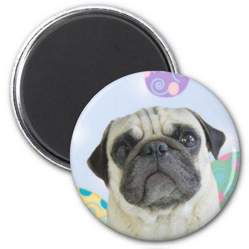 Easter Greetings pug Magnet