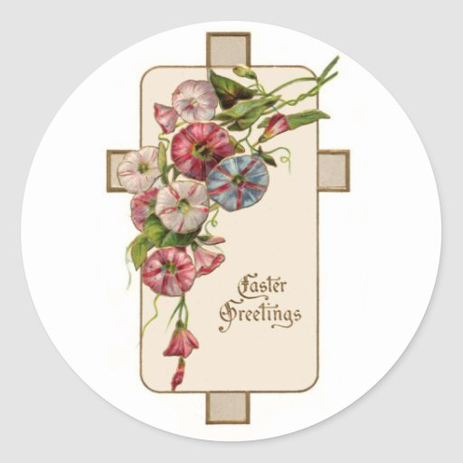 Easter Greetings Round Sticker