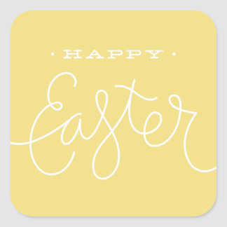 Easter Greetings Sticker - Lemon