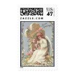 Easter Greetings Victorian Angel & Cross Stamp