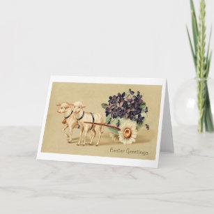 Victorian easter gifts on zazzle easter greetings victorian easter greeting card negle Choice Image